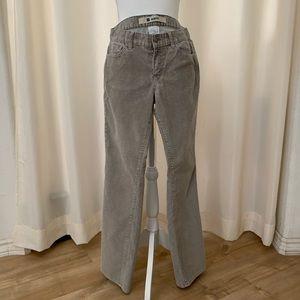 Gap Slim Fit Stretch Light Gray Corduroy Jeans